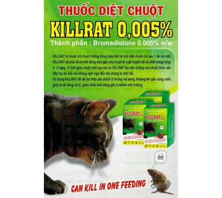 KILLRAT 0.005% DIỆT CHUỘT